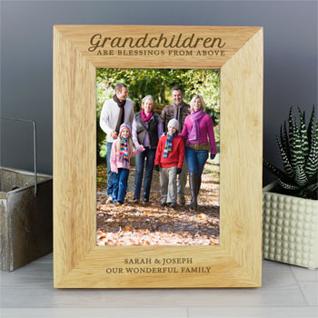 Personalised Grandchildren are Blessings 5x7 Inch Frame
