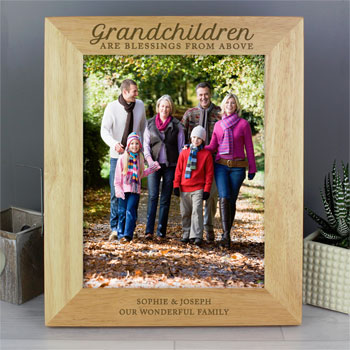 Personalised Grandchildren Are Blessings 8x10 Inch Frame