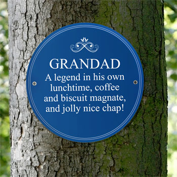Personalised Blue Heritage Plaque Dad Grandad Gift