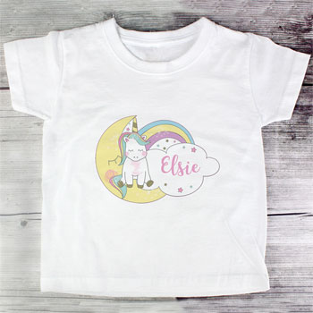 Personalised Baby Unicorn T Shirt Various Sizes