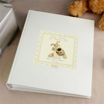 Personalised Unisex Boofle Baby Photo Album with Sleeves