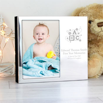 Personalised ABC 6x4 Inch Photo Frame Baby Album