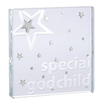 Special Godchild Glass Token With Free Spaceform Gift Bag