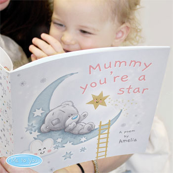 Personalised Tiny Tatty Teddy Mummy Your'e A Star, Poem Book