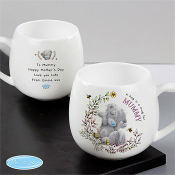 Personalised Me to You Bees Rounded Bone China Hug Mug