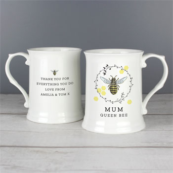 Personalised Bone China Bee 15oz Mug