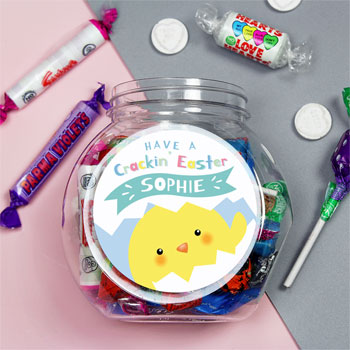 Personalised Have A Cracking Easter Children's Sweets Jar