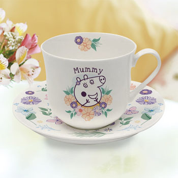 Peppa Pig Mummy Pig Floral Bone China Cup & Saucer