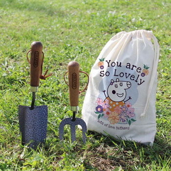 Personalised Peppa Pig Mummy Pig Floral Garden Tool Set