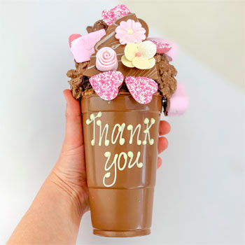 Personalised Floral Belgian Chocolate Smash Cup