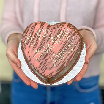 Personalised Pink Chocolate Smash Heart