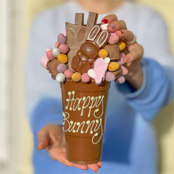 Personalised Belgian Chocolate Hoppy Easter Smash Cup