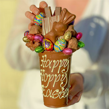 Personalised Belgian Chocolate Funky Easter Smash Cup