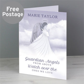 Personalised Guardian Angel Memorial Card