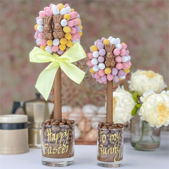 Personalised Cadbury Mini Eggs & Malteser Bunnys Easter Tree