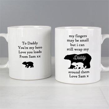 Personalised My Fingers May Be Small Bears Ceramic Mug