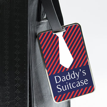 Gentlemens Shirt And Tie Personalised Luggage Tag