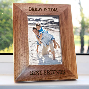 Daddy My Best Friend Engraved Wooden 4x6 Inch Photo Frame