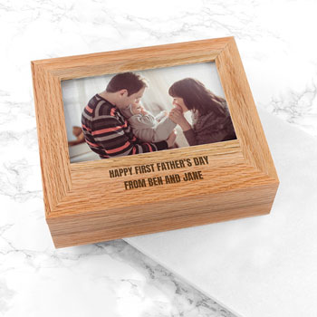 Personalised Father's Day Wooden Photo Box