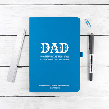 No Matter What Dad A5 Personalised Notebook