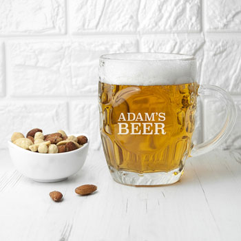 Personalised Dimpled Beer Pint Glass