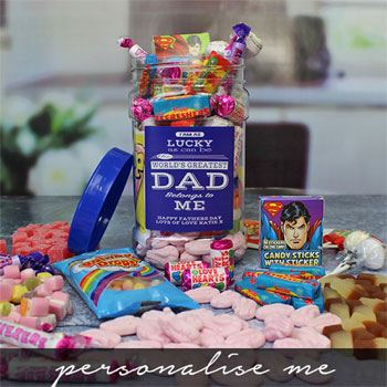 Personalised World's Greatest Dad Sweet Jar