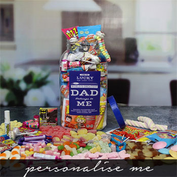 Large Personalised World's Greatest Dad Sweet Jar