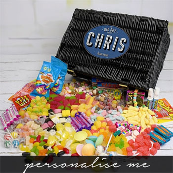 Personalised Big Boy Retro Sweet Hamper