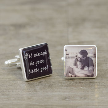 I'll Always Be Your Llittle Girl Photo Cufflinks