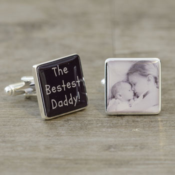 The Bestest Daddy Photo Cufflinks