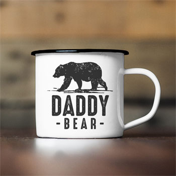 Personalised Daddy Bear Enamel Mug