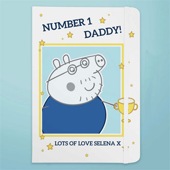 Personalised Peppa Pig Number 1 Daddy A5 Notebook