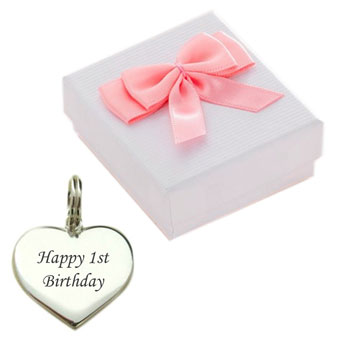 Baby Girl's Large Sterling Silver 1st Birthday Charm