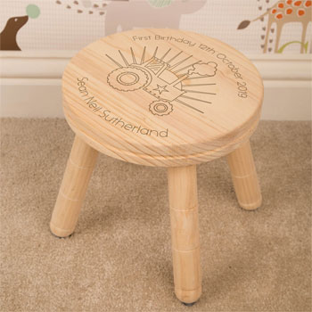 Personalised Wooden Tractor Stool