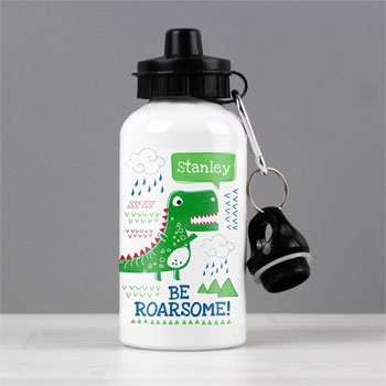 Boy's Personalised Be Roarsome Dinosaur Water Bottle
