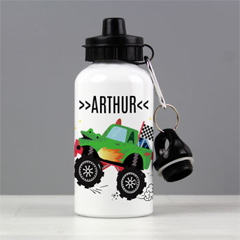 Boy's Personalised Monster Truck Drinks Water Bottle