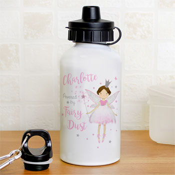Girl's Personalised Fairy Princess Water Bottle