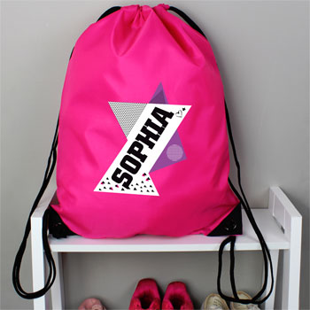 Girl's Personalised Dance Pink Kit Bag