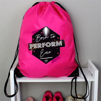 Personalised Born to Perform Pink Kit Bag
