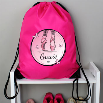 Girl's Personalised Ballet Pink Kit Bag