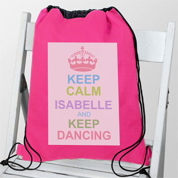 Girl's Personalised Pastel Keep Calm Swim & Kit Bag