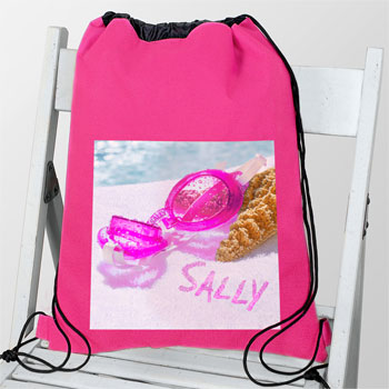 Personalised Swimming Goggles Waterproof Pink Swim & Kit Bag
