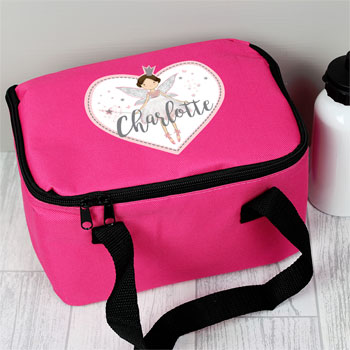 Girl's Personalised Fairy Princess Pink Lunch Sandwich Bag