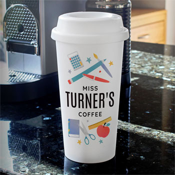 Personalised Teachers Double Walled Travel Mug
