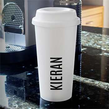 Personalised Name Insulated Travel Mug