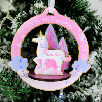 Personalised Make Your Own Unicorn 3D Xmas Decoration Kit
