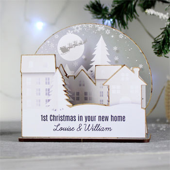 Personalised Make Your Own Town 3D Christmas Decoration Kit