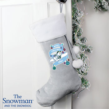 Personalised Snowman and the Snowdog Luxury Stocking