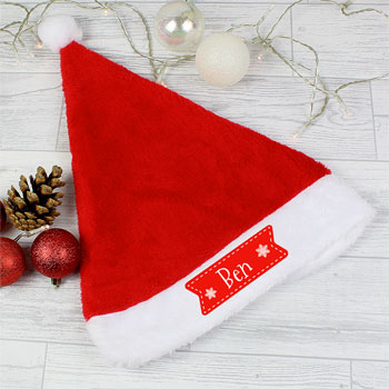 Personalised Star Santa Hat Christmas Party Hat