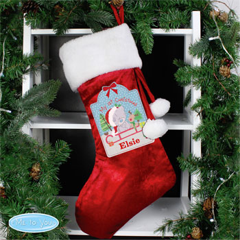 Personalised Tiny Tatty Teddy 1st Christmas Luxury Stocking